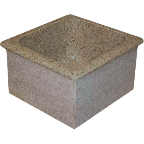 "Quiescence Farm Charm 16"" x 15"" Single Bowl Granite Bar Sink"