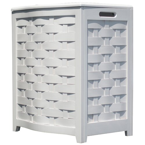 Oceanstar Design Bowed Front Laundry Hamper