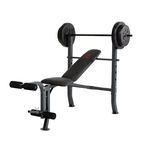 Bench with 80 lb. Weight Set