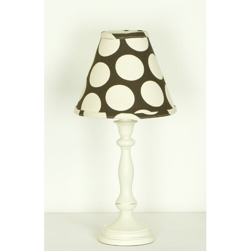 """Cotton Tale Raspberry Dot Standard 18"""" H Table Lamp with Empire Shade"""
