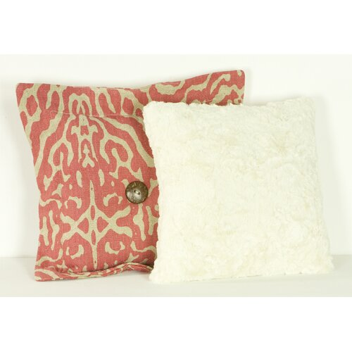 Raspberry Dot Pillow (Set of 2)