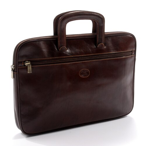 Italico Genoa Leather Laptop Briefcase