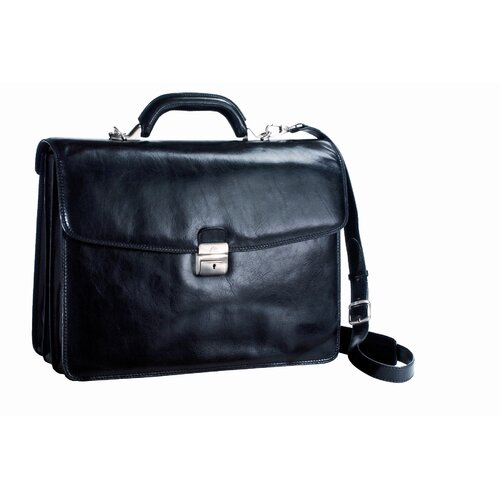 Italico Pivot Leather Laptop Briefcase