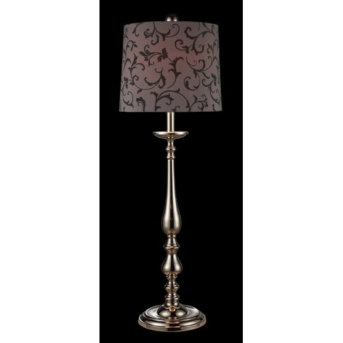 """Dimond Lighting Cassandra 37"""" H Table Lamp with Drum Shade"""