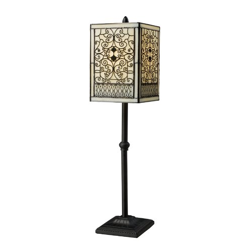 """Dimond Lighting Adamson 27"""" H Table Lamp with Square Shade"""