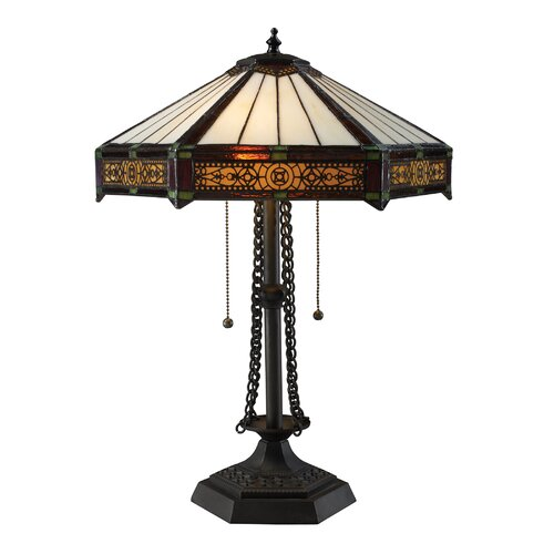 "Dimond Lighting Filigree 22"" H Table Lamp with Empire Shade"