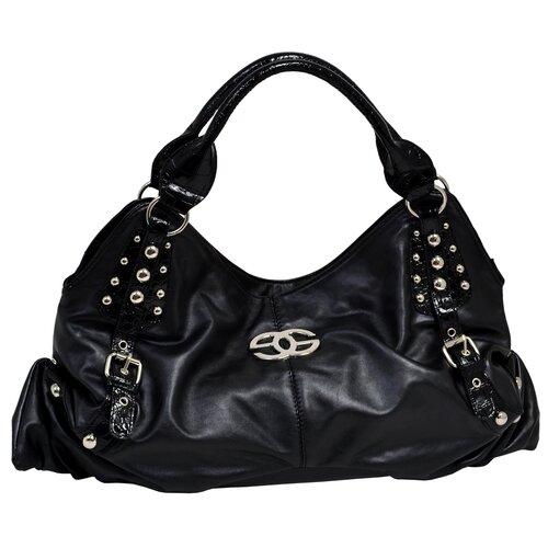 Eliza Croco Embossed Faux Leather Large Hobo Bag