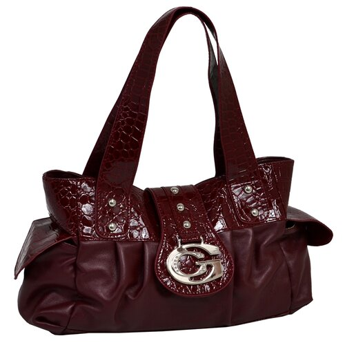 Parinda Flordeperia Croco Embossed Faux Leather Small Tote Bag