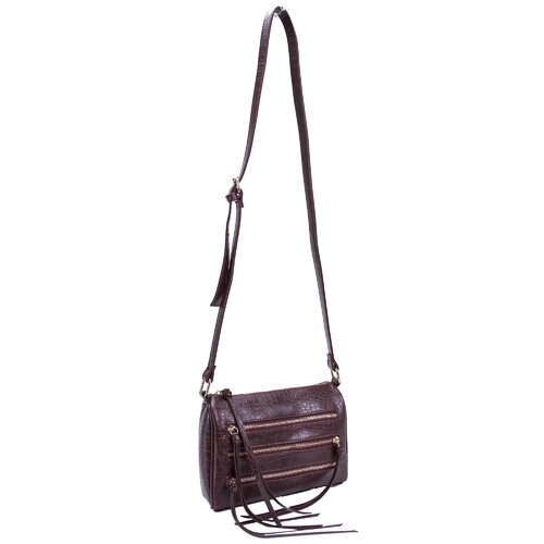 Minna Croco Embossed Faux Leather Cross Body Bag