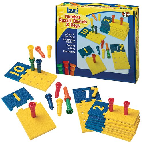 Patch Products Number Puzzle Boards and Pegs
