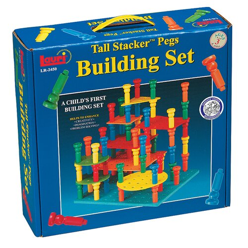 Tall - Stacker Pegs Building Set