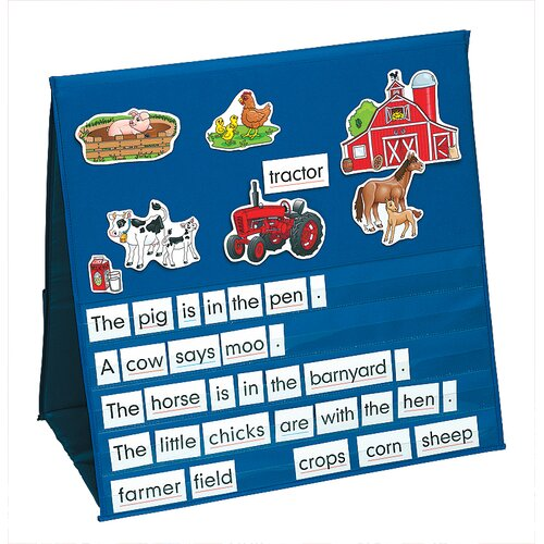 Patch Products Storytelling Felt Board Pocket Chart (On the Farm)
