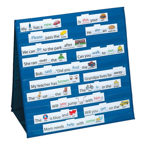 Patch Products Sight Words and Sentences Tabletop Pocket Chart