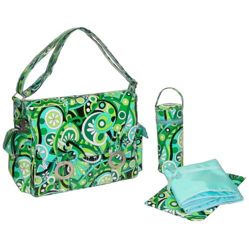 Coated Double Buckle Diaper Bag