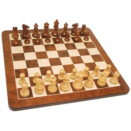 """Wood Expressions 21"""" Root Chess Set in Walnut"""