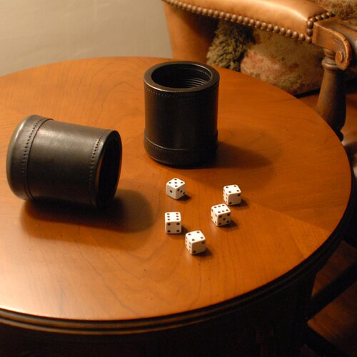Wood Expressions Dice Cup with 5 Dice in Mahogany
