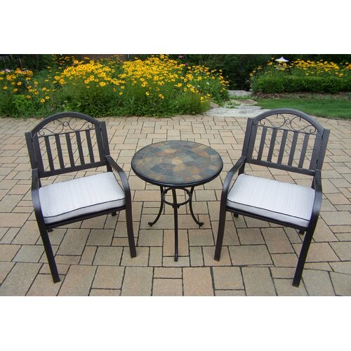 Outdoor Patio Furniture Rochester Ny: Stone Art Rochester 3 Piece Bistro Set With Cushions