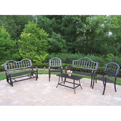 Oakland Living Rochester 5 Piece Lounge Seating Group Set
