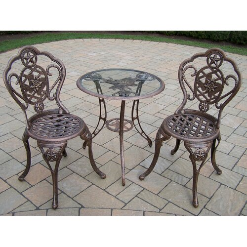 Texas Rose 3 Piece Bistro Set