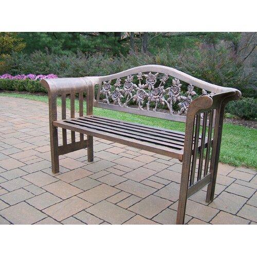 Oakland Living King Louis Aluminum Garden Bench Reviews Wayfair