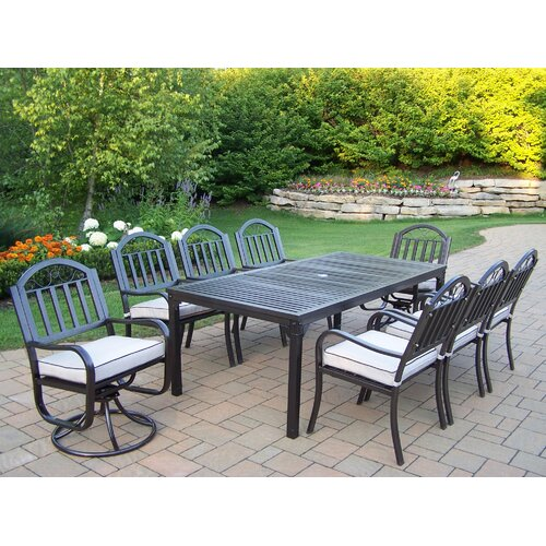 Oakland Living Rochester Dining Set with Cushions