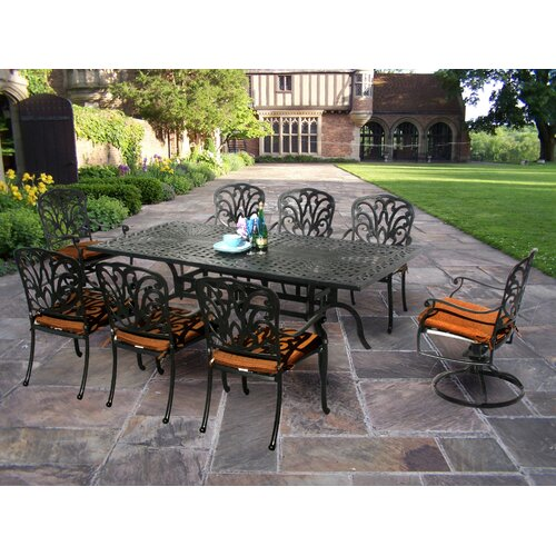 Oakland Living Hampton Dining Set with Cushions