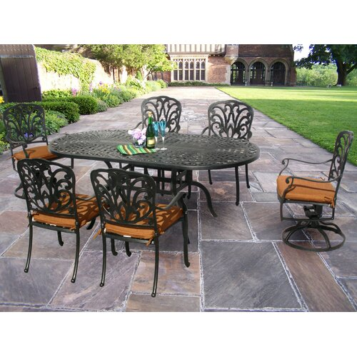 Oakland Living Hampton 7 Dining Set with Cushions