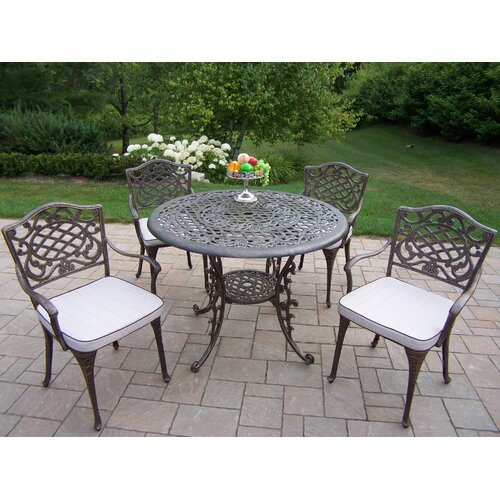 Oakland Living Mississipp Dining Set with Cushions