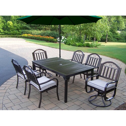 Oakland Living Rochester Swivel Dining Set with Cushions