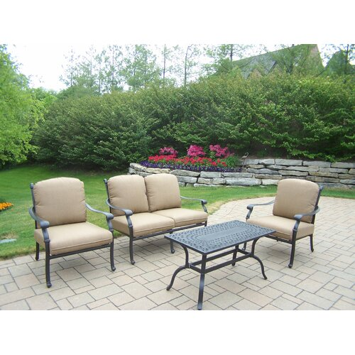 Oakland Living Hampton 4 Piece Deep Seating Group Set