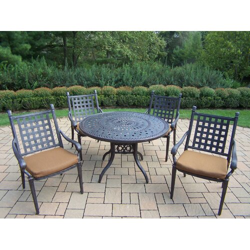 Oakland Living Belmont Round Dining Set with Cushions