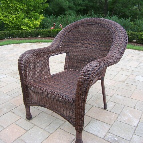 Oakland Living Resin Wicker Arm Chair (Set of 2)