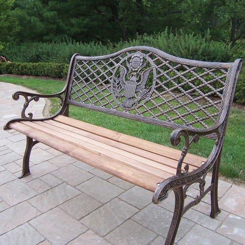 Tea Rose Wood And Cast Iron Park Bench Wayfair