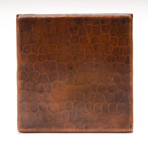 premier copper products 4 x 4 copper hammered tile in oil rubbed