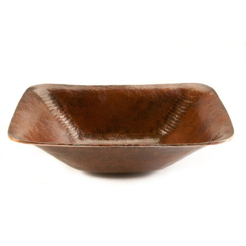 Rectangular Old World Hand Forged Copper Vessel Sink