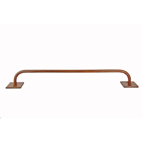 "Premier Copper Products 18"" Wall Mounted Hand Hammered Copper Towel Bar"