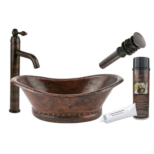 Premier Copper Products Bath Tub Vessel Bathroom Sink & Reviews ...