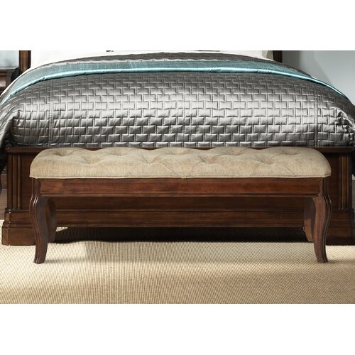 Wildon Home Upholstered Storage Bedroom Bench: Liberty Furniture Alexandria Upholstered Bedroom Bench