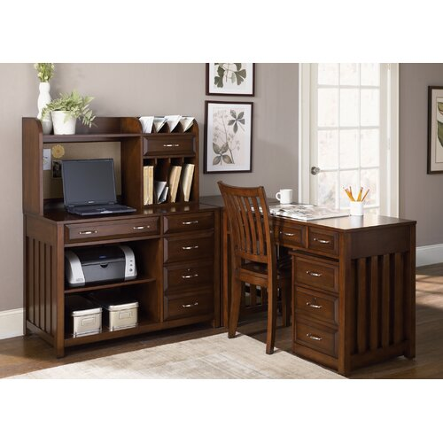 Liberty Furniture Hampton Bay Computer Credenza in Cherry