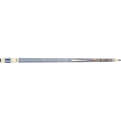 Meucci Cues Pool Cue with Grey Stained Birdseye Maple Forearm