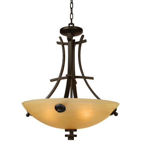 Sentinel 4 Light Foyer Inverted Pendant