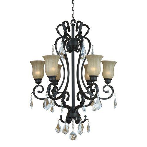 Yosemite Home Decor Jessica 6 Light Chandelier