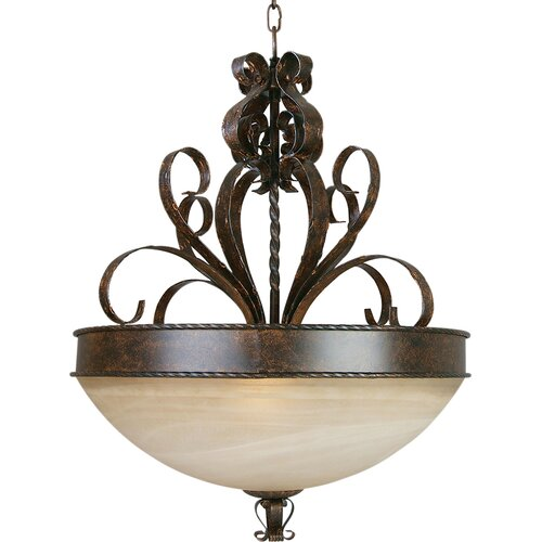 Yosemite Home Decor McKensi Foyer Inverted Pendant