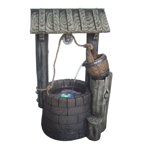 Yosemite Home Decor Limestone Well Fountain