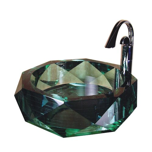 Jade Diamond Glass Bathroom Sink