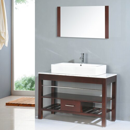 "Yosemite Home Decor Transitional Single 47"" Bathroom Vanity Set"
