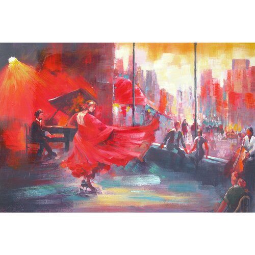 Yosemite Home Decor Revealed Art Flamenco Original Painting on Canvas