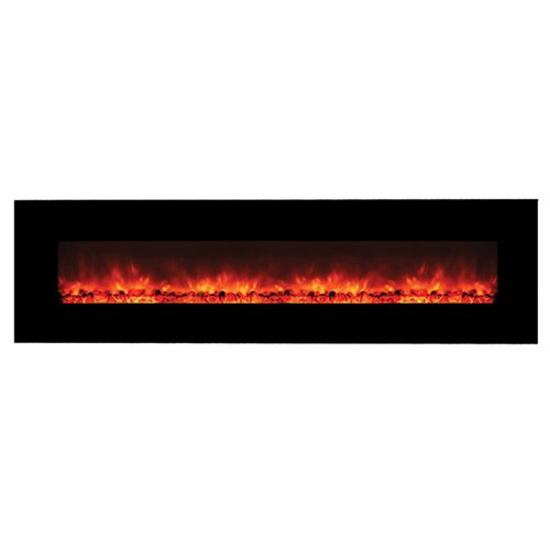 Contemporary Wide Glass Electric Fireplace with No Heater