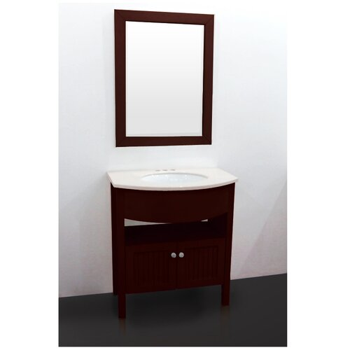 "Yosemite Home Decor Transitional 27.5"" Single Standard Bathroom Vanity Set"