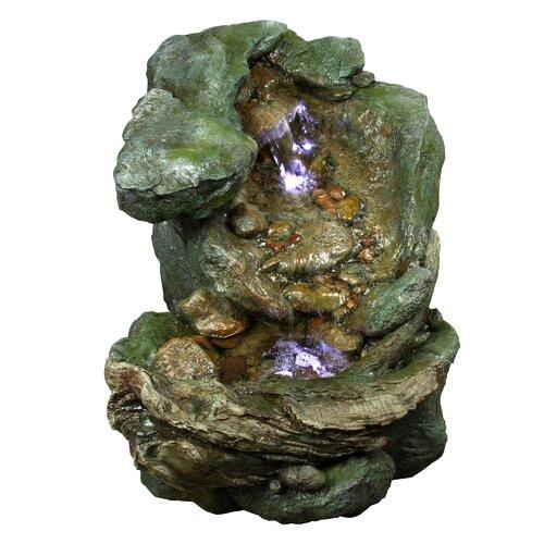 Tall Rock Polyresin Fountain